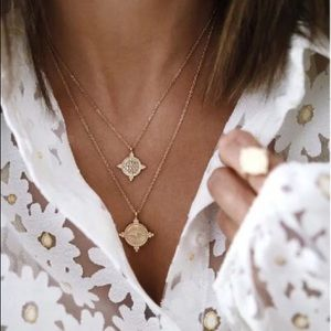 Gold medallions necklace